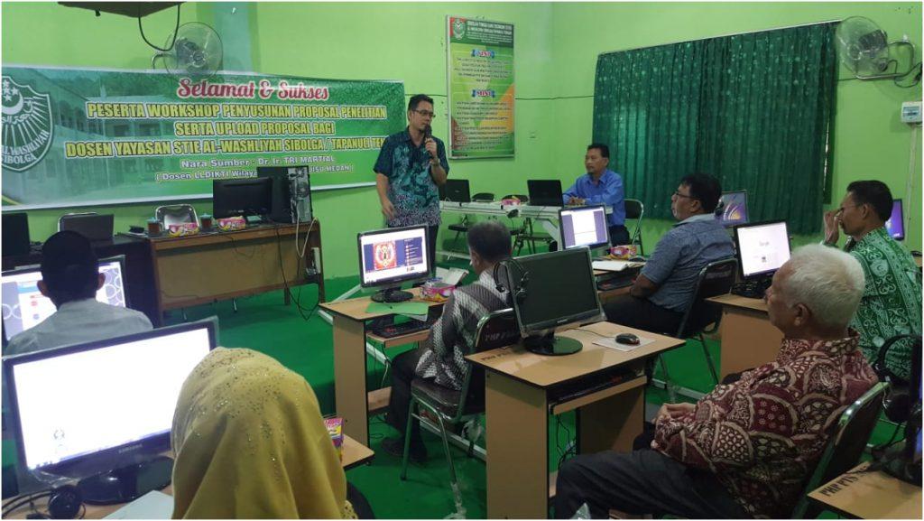 Workshop Pembuatan Proposal Penelitian Serta Upload Proposal Bagi Dosen Tetap Yayasan Stie Al-Washliyah Sibolga/Tapanuli Tengah